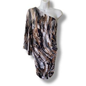 F21 XXI one shoulder mini dress